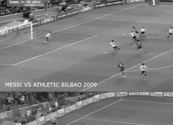 Enlace a GIF: BRUTAL. Messi vs Messi. Comparación de goles Bayern 2015 y Athletic 2009