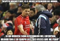 Enlace a Bonitas palabras de Gerrard hacia Mourinho