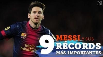 543644 - Los 9 récords más importantes de Messi