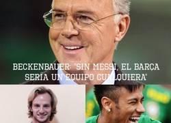 Enlace a Beckenbauer, nuestro viejo amigo bocazas, ha hablado de nuevo