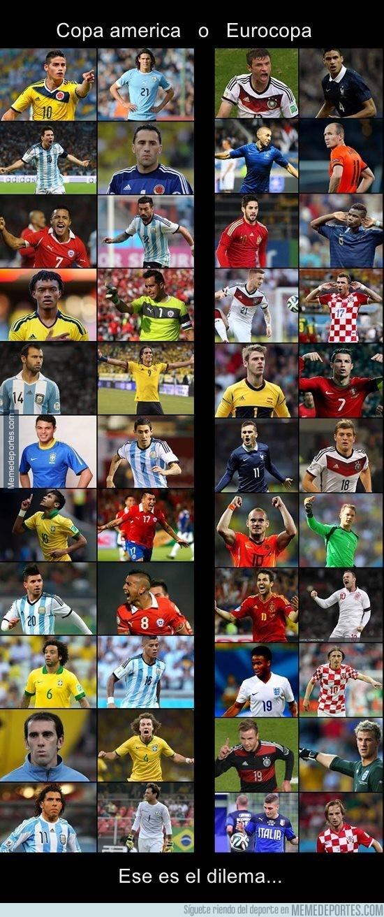 544612 - Eurocopa o Copa América. Difícil elección