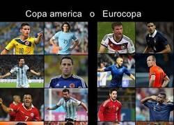 Enlace a Eurocopa o Copa América. Difícil elección