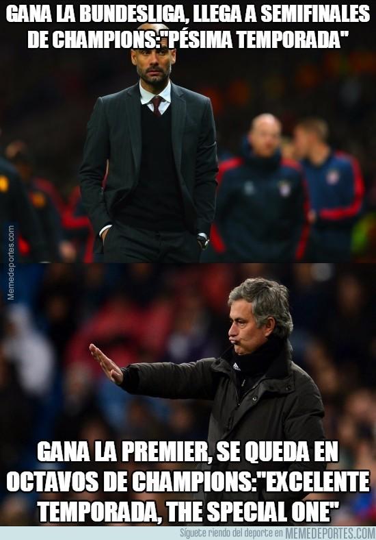 545721 - Doble rasero al ver la temporada de Mourinho y Guardiola
