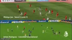 Enlace a GIF: El coreano Minkyu Joo hizo un gol idéntico al de James en el Mundial 2014
