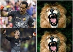 Enlace a Porteros del Barça en Liga y Champions