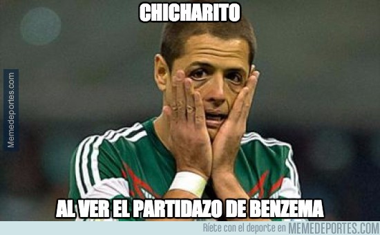 546716 - Chicharito al ver el partidazo de Benzema