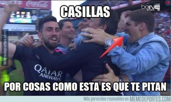 553824 - Casillas se va al Calderón a celebrar con el Barça