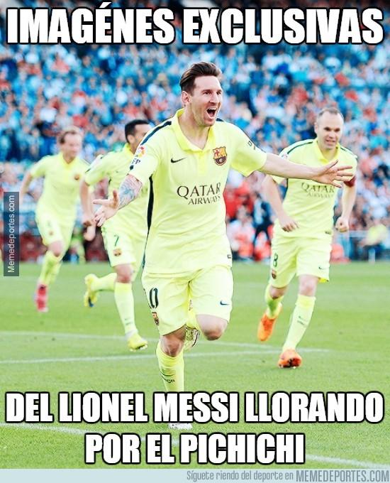 553879 - Imagénes exclusivas de Messi llorando por el pichichi