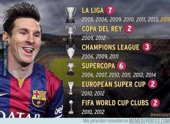 553939 - Los 22 títulos de Lionel Messi con el FC Barcelona