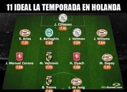 Enlace a INCREÍBLE. Ningún jugador del 11 ideal de la Eredivisie supera los 27 años de edad