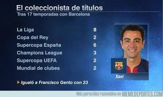 555594 - Todos los títulos de Xavi con el Barcelona. LEYENDA