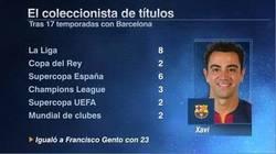 Enlace a Todos los títulos de Xavi con el Barcelona. LEYENDA