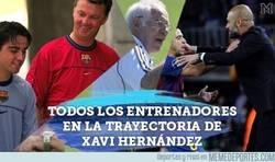Enlace a Los entrenadores de Xavi durante su trayectoria