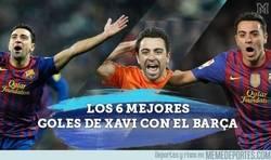 Enlace a Los 6 mejores goles de Xavi con el Barça. Maestría y calidad