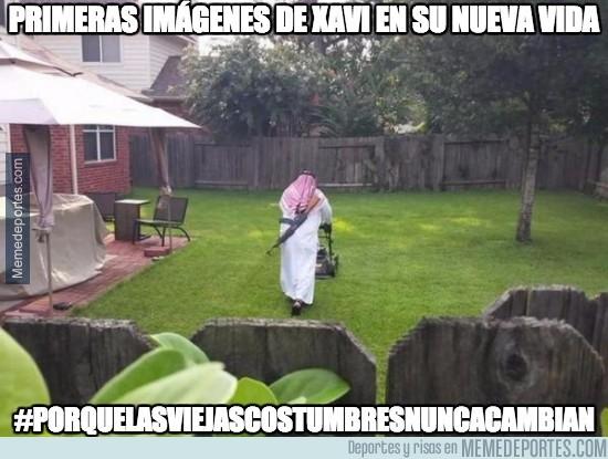 557773 - Primeras imágenes de Xavi en su nueva vida