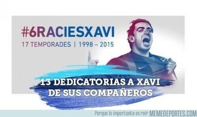 557819 - 13 compañeros le desean suerte a Xavi en su nueva etapa