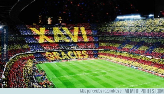 557891 - Así será el mosaico dedicado a Xavi en su último partido de liga