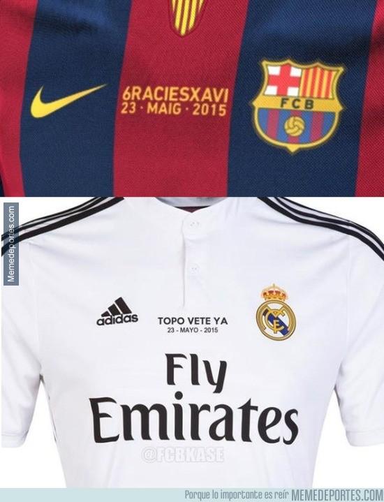558626 - Mensajes en las camisetas de Barça y Madrid en los partidos de hoy