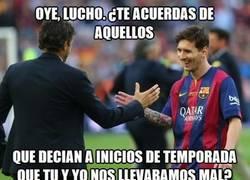 Enlace a Lucho y Messi callando bocas