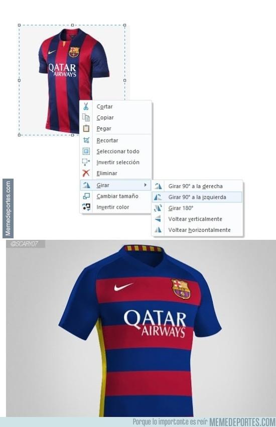 560754 - Así ha sido la ingeniosa creación de la nueva camiseta del Barça