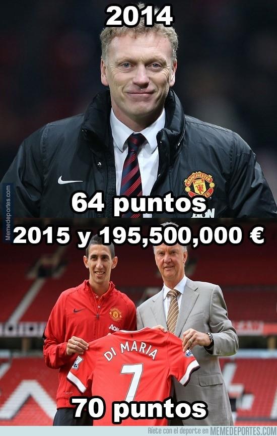 561587 - Van Gaal con 195.500.000€ sólo hizo 6 puntos más que Moyes