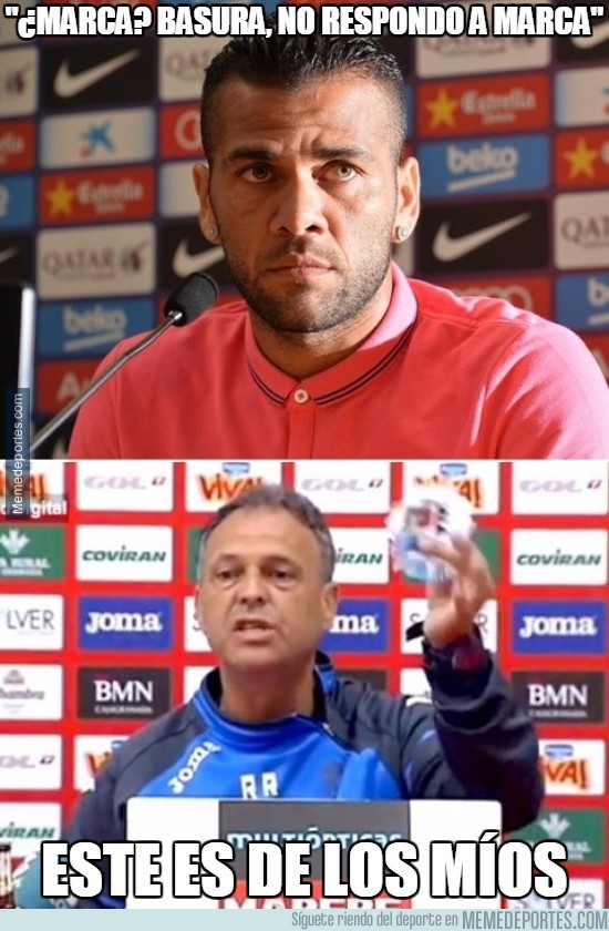 561630 - Dani Alves llamando basura a @marca. Ganando puntos con Caparrós