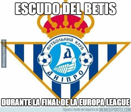563587 - Escudo del Betis durante la final de la Europa League