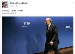 Enlace a Esto es lo que publicaba Diego Armando Maradona en su facebook.