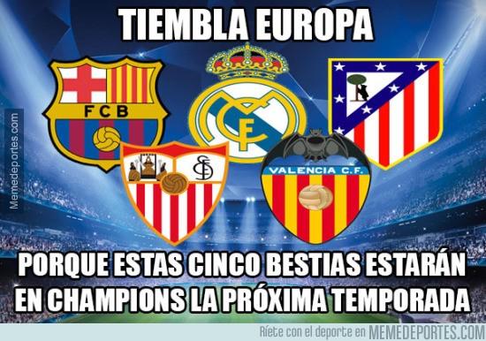 564488 - ¡INCREÍBLE! 5 equipos españoles en Champions