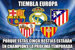Enlace a ¡INCREÍBLE! 5 equipos españoles en Champions