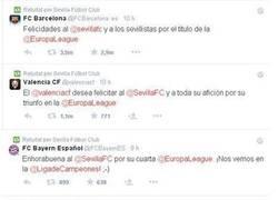 Enlace a Gente del mundo del fútbol felicitando al Sevilla