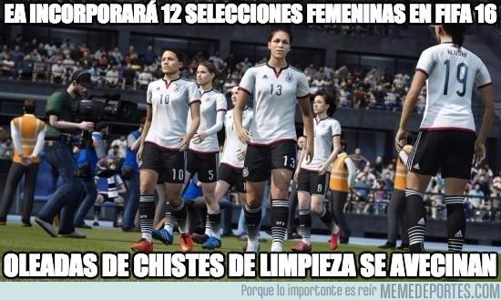 565109 - EA incorporará 12 selecciones femeninas en fifa 16