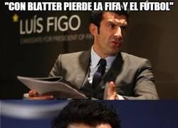 Enlace a Con Figo en la FIFA solo perdería uno