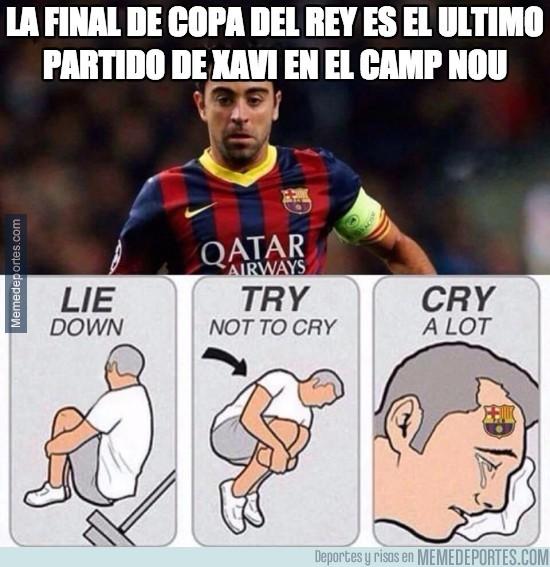 566721 - La final de Copa del Rey es el ultimo partido de Xavi en el Camp Nou