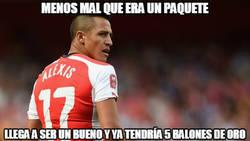 Enlace a Alexis Sánchez callando bocas...