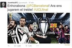 Enlace a La Juventus felicita al Barça en catalán y se citan para el triplete
