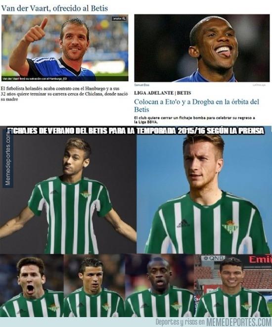 570408 - Fichajes de verano del Betis para la temporada 2015/16 según la prensa