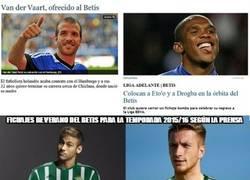 Enlace a Fichajes de verano del Betis para la temporada 2015/16 según la prensa