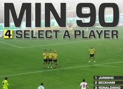 Enlace a Min. 90. Selecciona un jugador para lanzar la falta