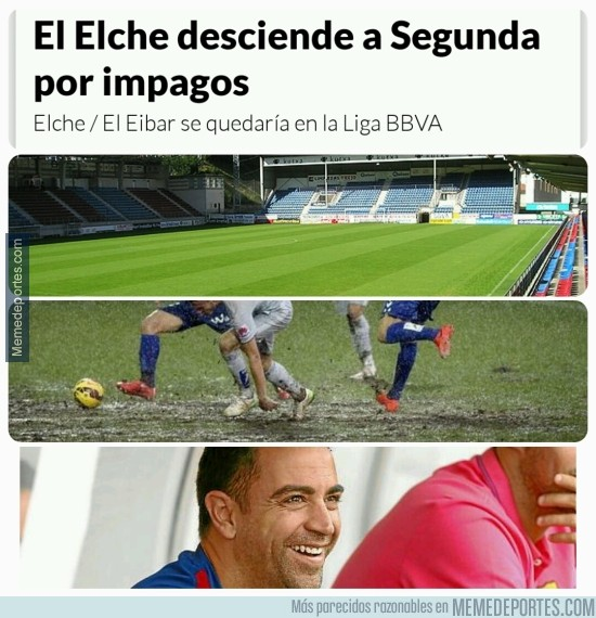 571576 - Menos mal que Xavi se va a Qatar, el Eibar puede volver a jugar en primera