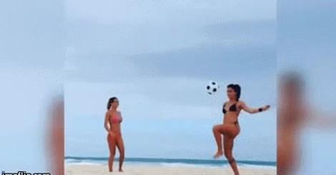 Memedeportes Gif Increible El Control De Balon De Estas Chicas