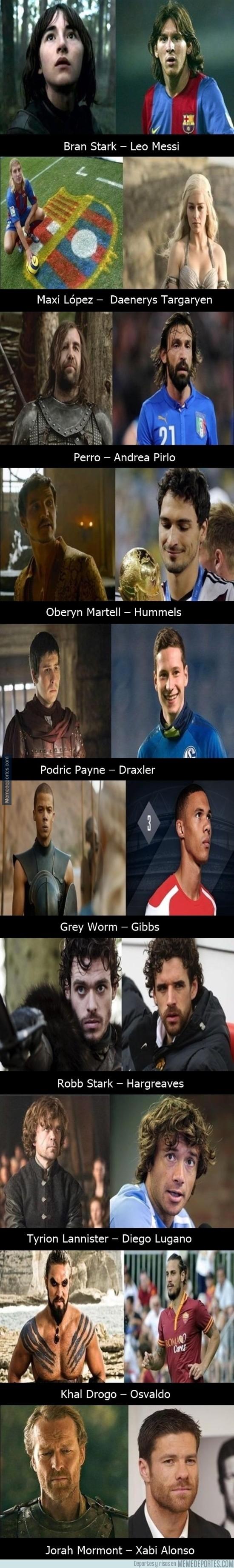 572224 - Los futbolistas más parecidos a los personajes de Juego de Tronos