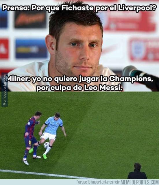 572657 - Milner huye de Messi