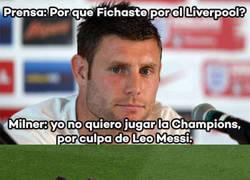 Enlace a Milner huye de Messi