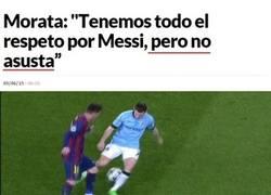Enlace a Las declaraciones de Morata calentando la final