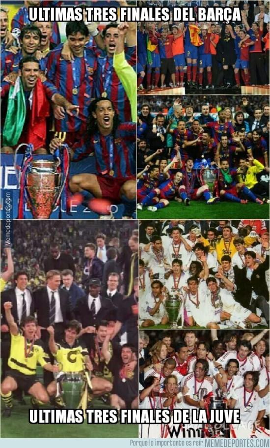 573322 - Las últimas tres finales de Barça y Juventus