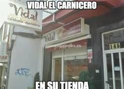 Enlace a Vidal el carnicero, ¡hasta tiene tienda!