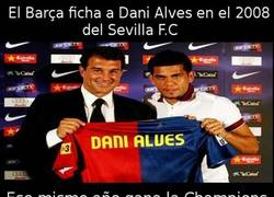 Enlace a Al Barça le da buena suerte fichar jugadores del Sevilla