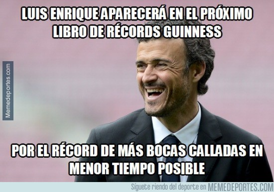 576084 - Luis Enrique ingresa en el libro Guinness