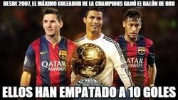 Enlace a Desde 2007, el máximo goleador de la champions ganó el balón de oro